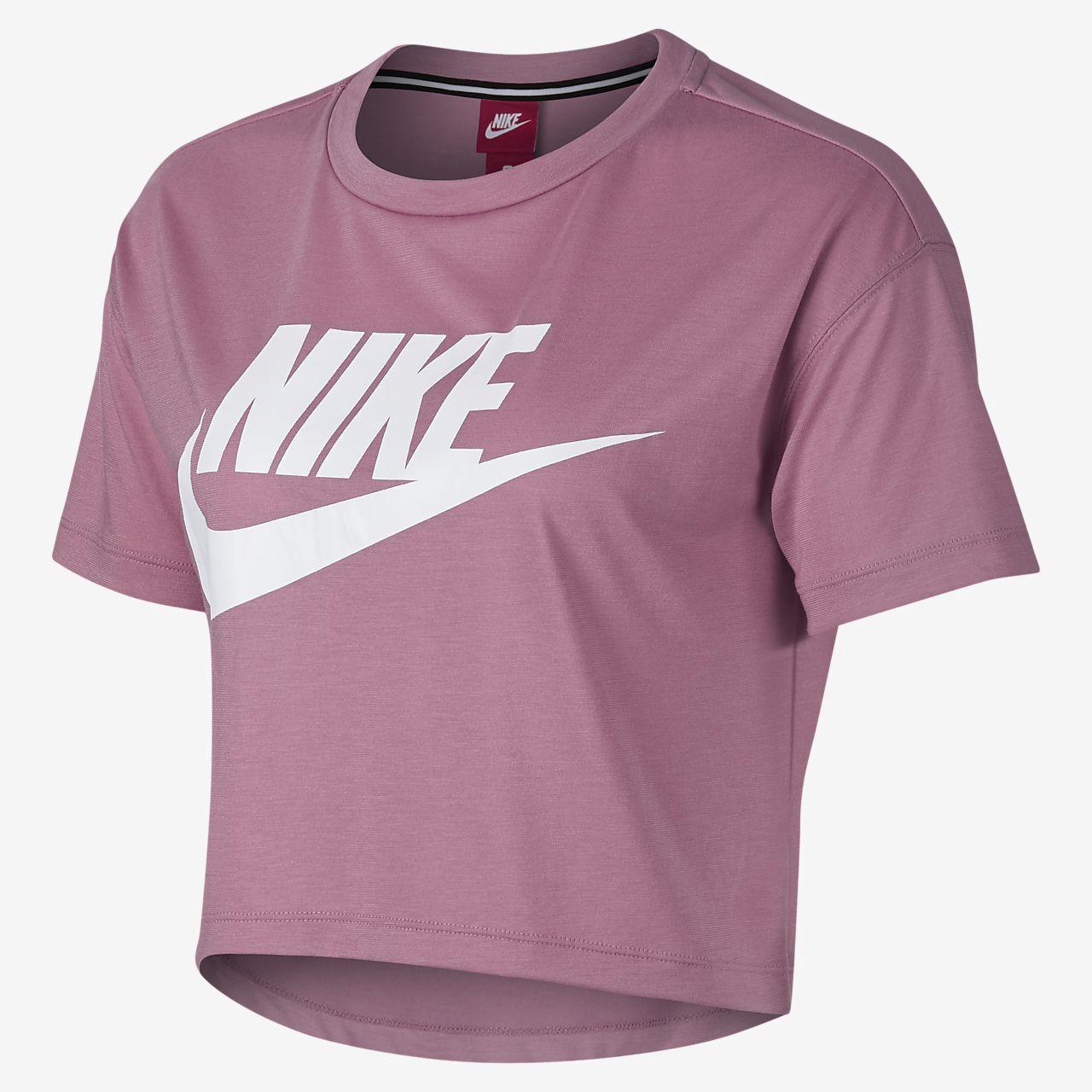 Nike Essential Cropped Women S Short Sleeve Top Xl 16 18 Nike Shirts Women Nike T Shirts Women S Nike Shirts Women S [ 1280 x 1280 Pixel ]
