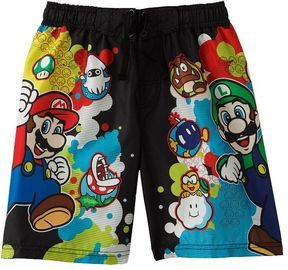 b9d0425d84 shopstyle.com: Nintendo super mario swim trunks - boys 4-7 | G33k ...