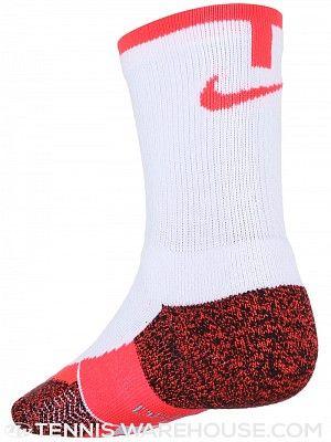 Paternal el último libertad  Nike Men's Elite Tennis Crew Sock White/Crimson | Nike elite, Nike men,  Crew socks