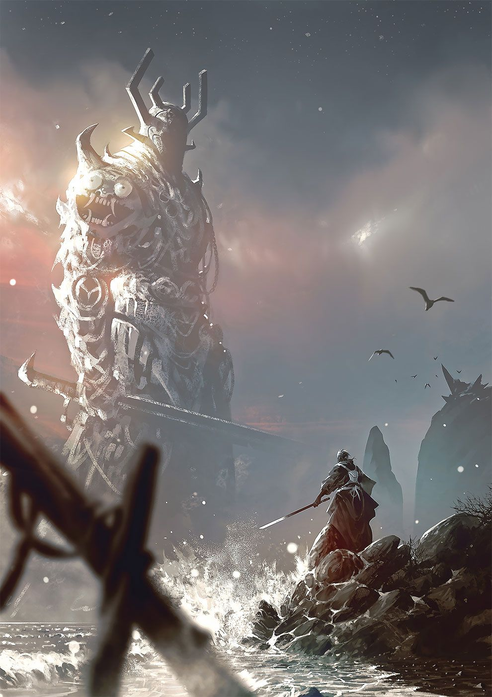 Shadow Of The Colossus The Epic Fantasy Artworks By Omer Tunc