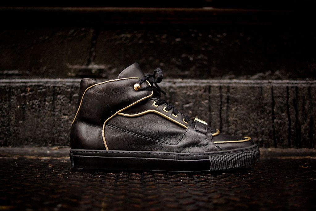 Versace Collection Hi Top Cupsole - Black / Gold—The gold lining is subtle, but quite classy.