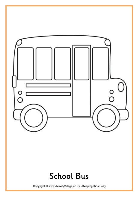 school bus Back to school dibujos para colorear de Activity