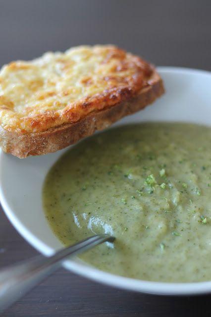 The Cook Time: Velouté de brocolis au Boursin, tartine fromagère