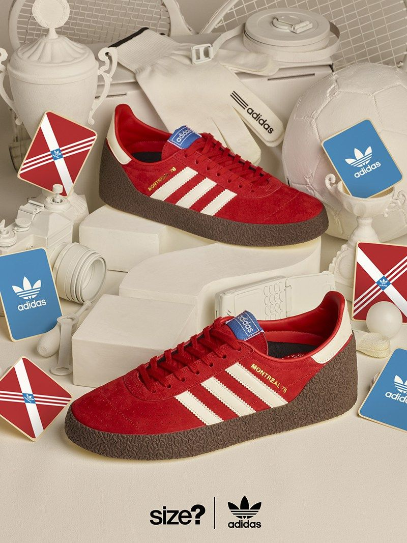 best sneakers 24b1b 5a165 adidas Montreal 76 in Red for size Exclusive - EU Kicks Sneaker Magazine