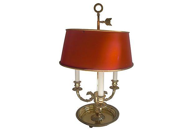 Brass 3-Arm Swan Bouillotte Lamp on OneKingsLane.com