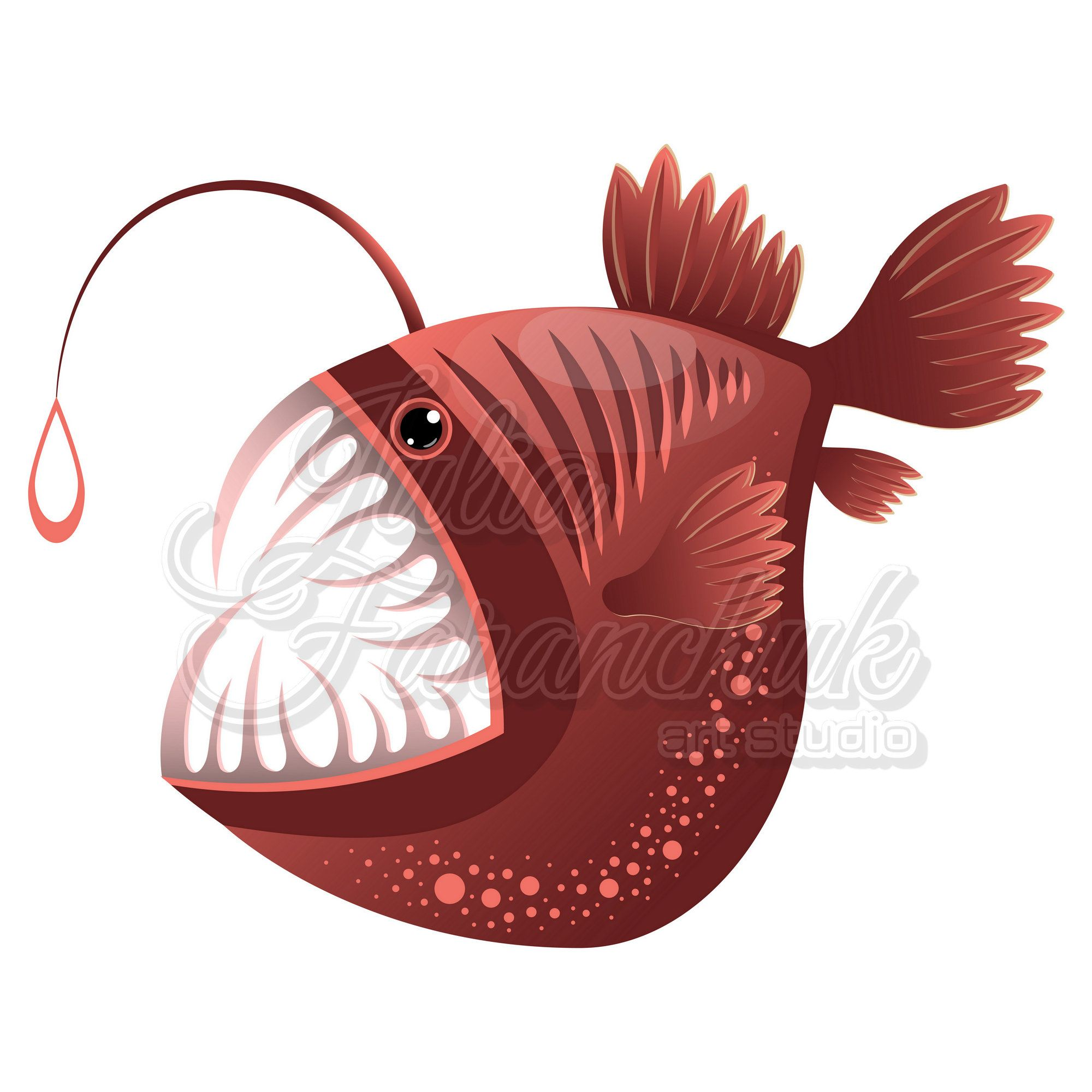 Excited To Share The Latest Addition To My Etsy Shop Fish Clipart Lophius Piscatorius Vector Illustration Fish Svg Eps Jpg Png Svg Digital Good Htt