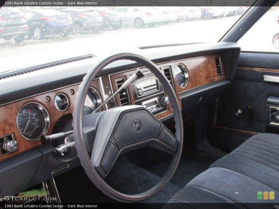 Dark Blue Interior Dashboard For The 1983 Buick Lesabre Custom Sedan