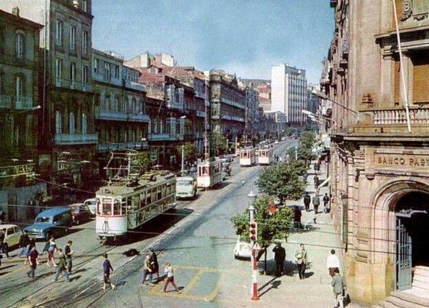 Vigo. Foto histórica. El tranvia.