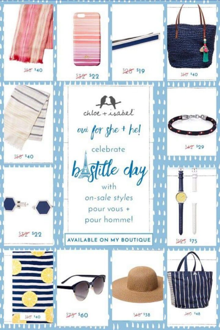 Celebrate #BastilleDay with me by visiting my boutique www.chloeandisabel.com/boutique/angelaflowers for these great sale items as well as others! You dont want to miss out!!! 48HOURS ONLY!!! GOING ON NOW!!!!