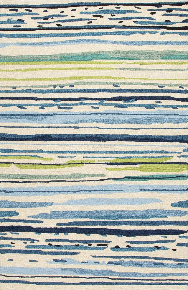 Jaipur Co19 Abstract Blue Green Indoor Outdoor Area Rug 5x7 6
