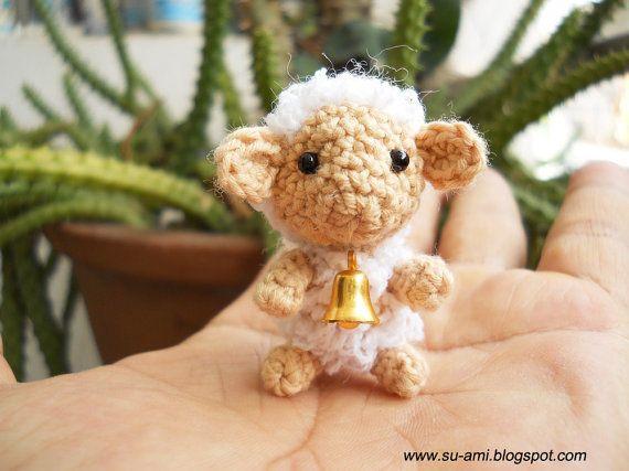 Creme minuscola pecora  Mini maglia pecore carino con di SuAmi