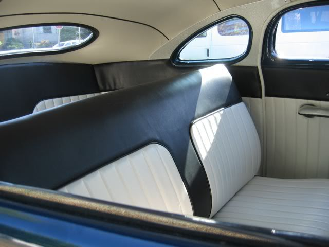 Black And White Bench Seat Tuck N Roll Coordinating Door Panels And Roof  Liner