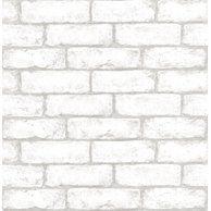 Peel And Stick 3d Wall Panels Pe Foam White Brick Wallpaper Set Of 10 58 Sq Ft Walmart Com Brick Wall Wallpaper Brick Wallpaper Brick Interior Wall