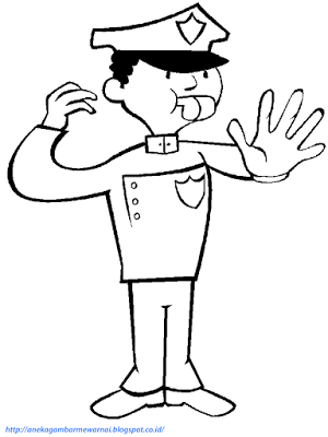 Aneka Gambar Mewarnai Gambar Mewarnai Polisi Untuk Anak Paud Dan Tk Sebelumnya Gambar Mewarnai Halaman Mewarnai Kartun Warna