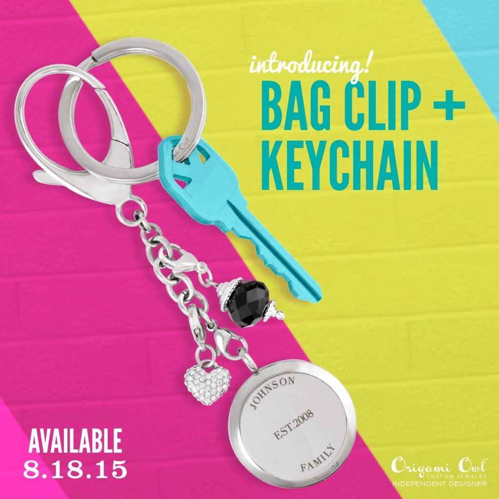 We have bag clips & key chains!! Coming on the 18th!!! I'm so excited.