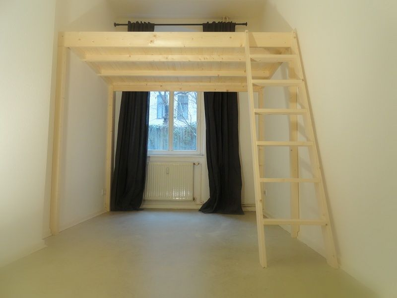 hochbett selber bauen altbau anleitung wohn design. Black Bedroom Furniture Sets. Home Design Ideas
