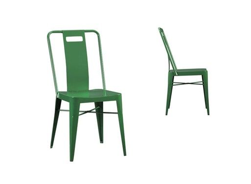Clic Metal Studio Stool With A Back And Glossy Green Paint What S Not To Like
