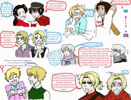 1P's meeting their 2P's | Countries stuff | Hetalia, Hetalia