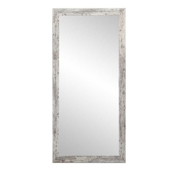 Brandtworks Distressed White Barnwood Full Length Floor Wall Mirror Bm032ts The Home Depot In 2020 Floor Mirror Barnwood Floors Wood Full Length Mirror