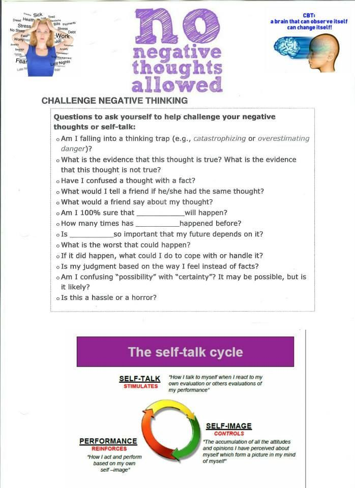CBT therapy worksheet Cognitive Behaviour Therapy – Dialectical Behavior Therapy Worksheets