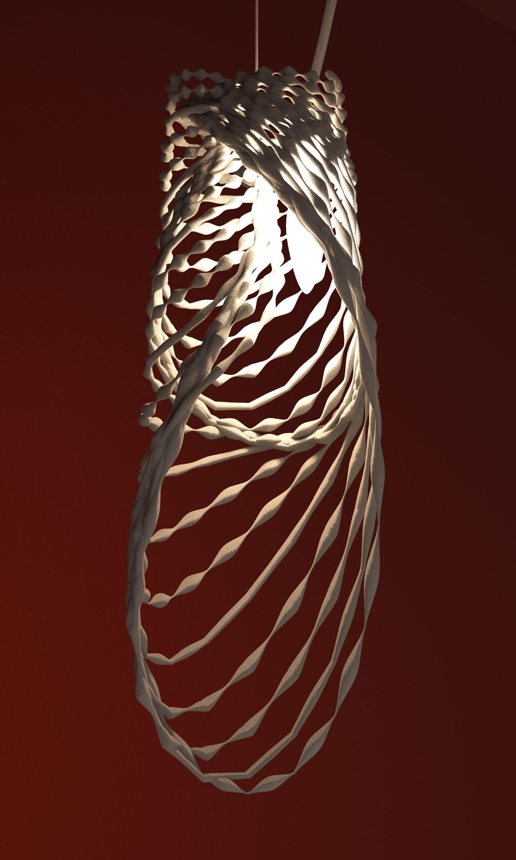 Progetto paralume realizzato con la stampa 3D by Studioluminare