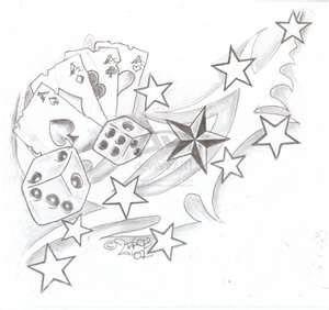 Gambling Tattoos Tattoo Art 9913 600x565jpg