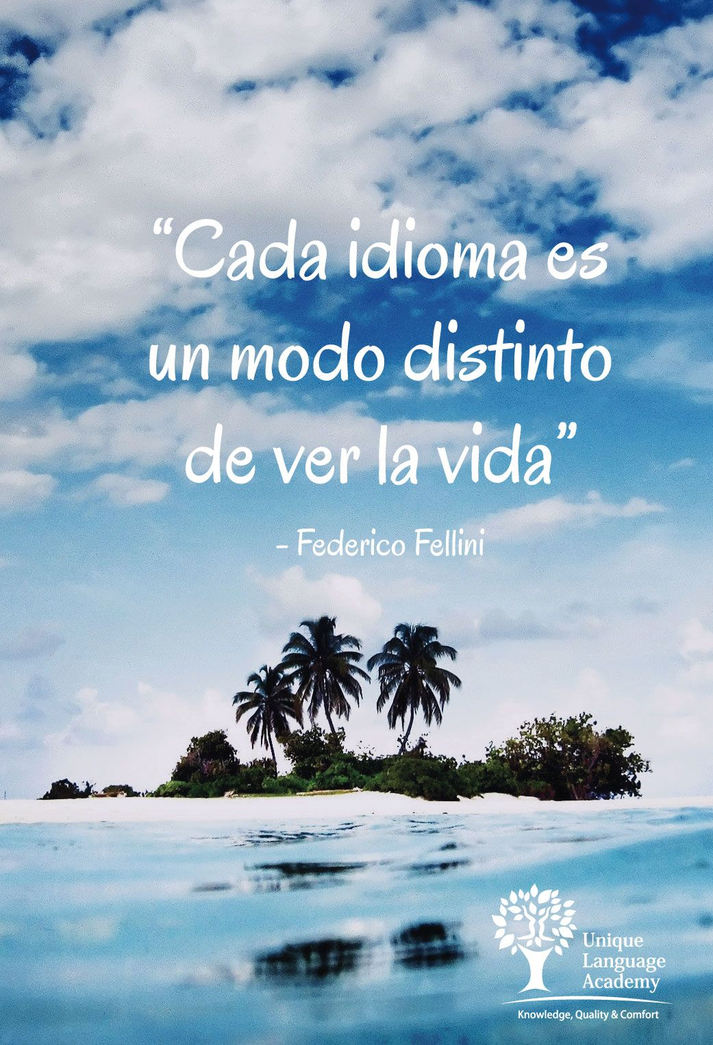 Federico Fellini Quote   Cada idioma es un modo distinto de ver la