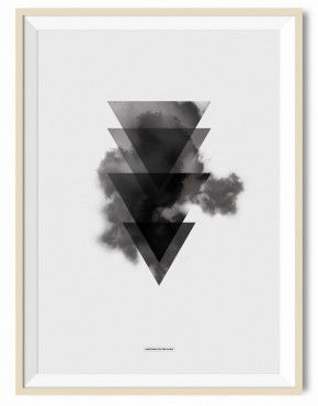 Triangle sky illustration A3 - Another Poster Shop