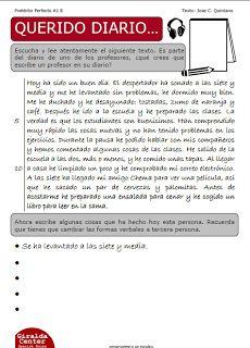 Les Quichotteries De Delphine Passe Compose Enseigner L Espagnol Activites De Comprehension De Lecture