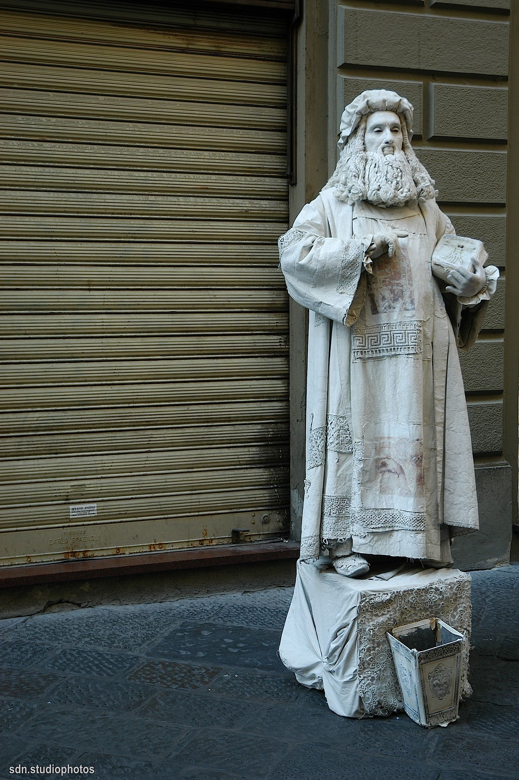 Statua vivente, Via de' Calzaiuoli, Firenze (Toscana, Italy) - by Silvana, settembre 2014