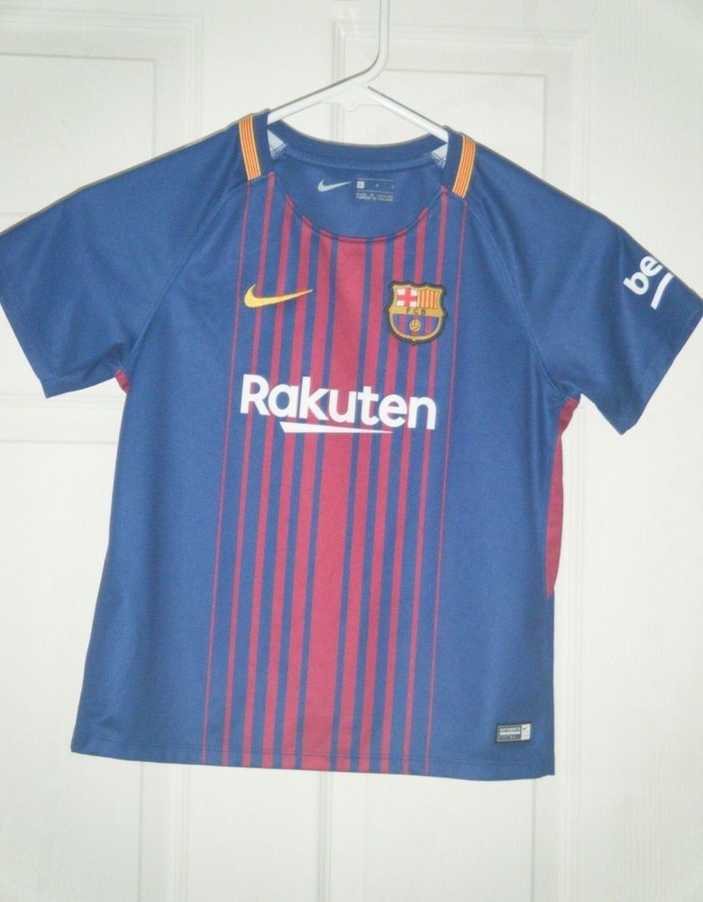 8f9f2d19b9d FC Barcelona Knit Jersey Shirt 2017/18 Rakuten youth kid jersey boys large  used #Nike #FCBarcelona