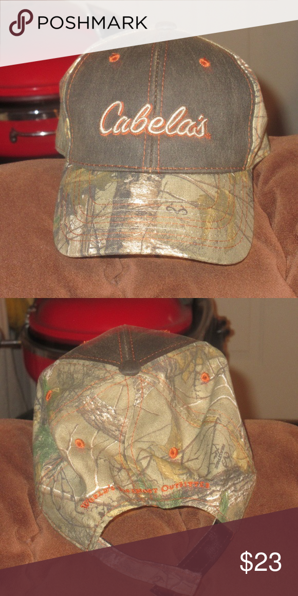 08ad16807f7 Camoflauge Baseball Hat Cabela s Camo Baseball Hat Adjustable in the back.  Velcro strap. Cabela s Other