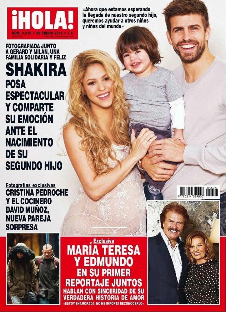 LAS CADERAS TABASCO: Shakira, Gerard y Milan para la revista \