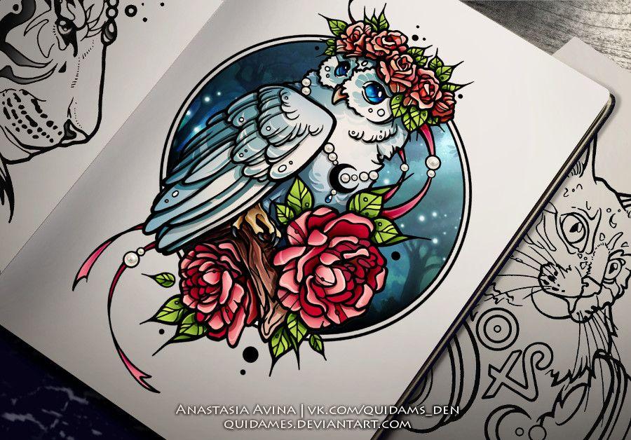 Owl, Anastasia Avina on ArtStation at https://www.artstation.com/artwork/GdNaN