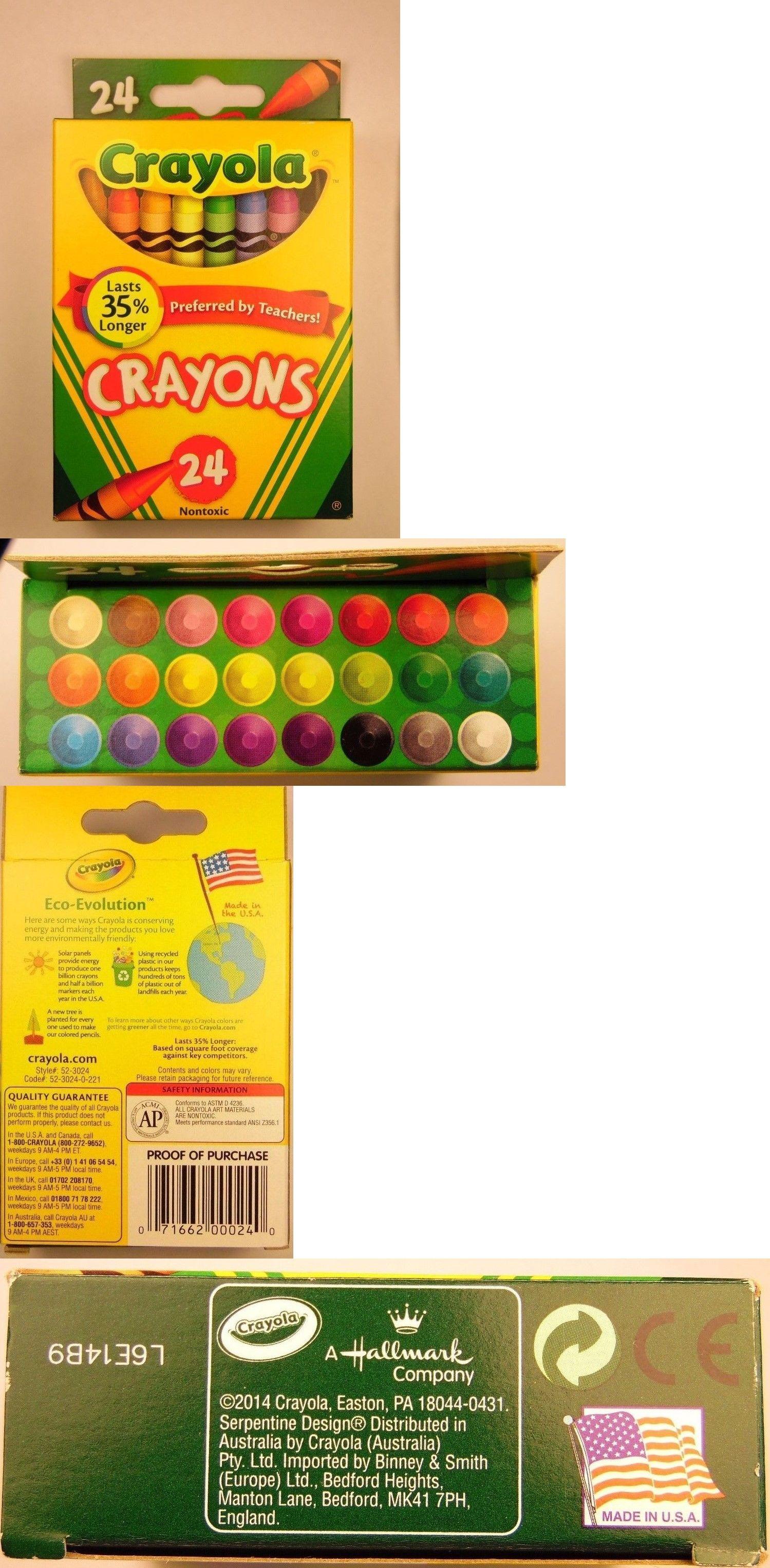 crayons 116653 crayola crayons 24 count box 30 pack nontoxic new