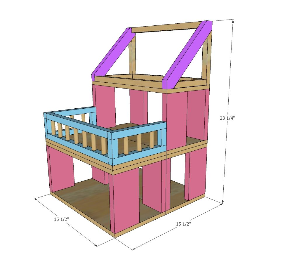 dollhouse furniture plans. Ana White   Build A HOW TO: Modular Stackable Dollhouse Free And Easy DIY Furniture Plans O