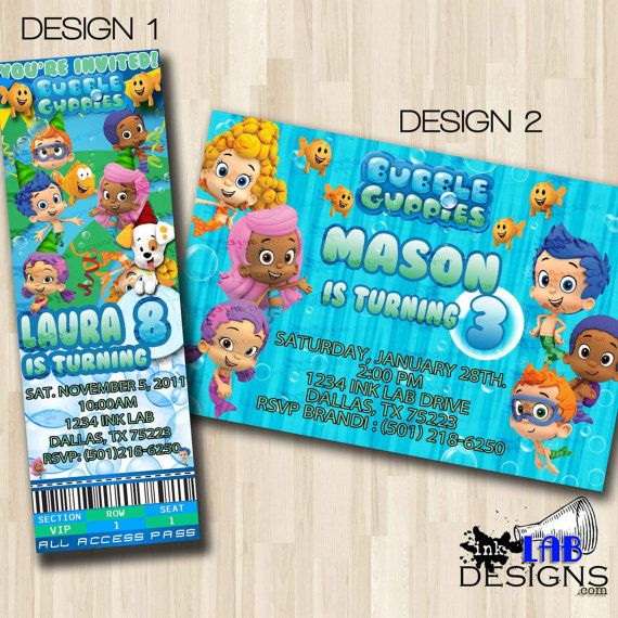Bubble Guppies Party Invitations