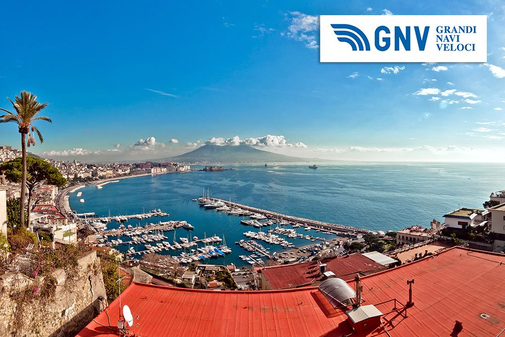 Day view of #Naples from #Posillipo with #Mediterranean#sea and #Vesuvius#mount. Discover #GNV routes from/to #Naples here: http://www.gnv.it/en/ferries-destinations/naples-ferries-campania.html