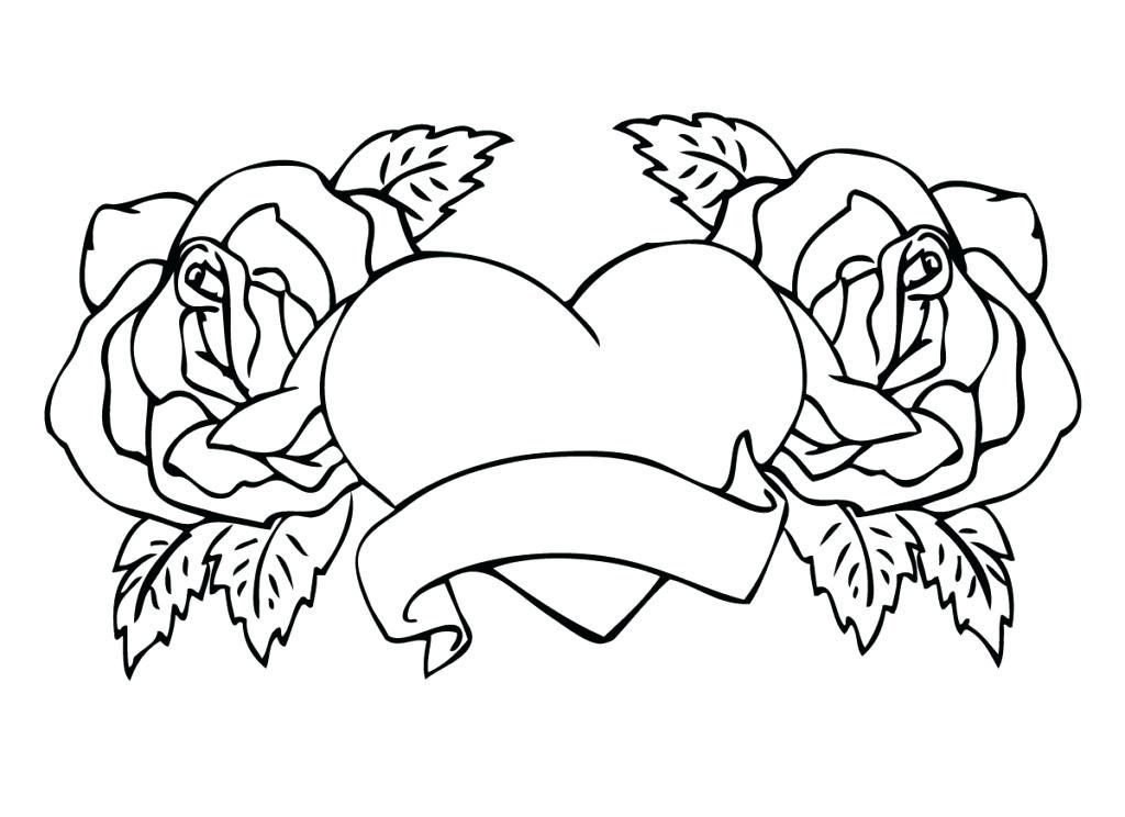 Hearts Coloring Pages for Adults - Best Coloring Pages For