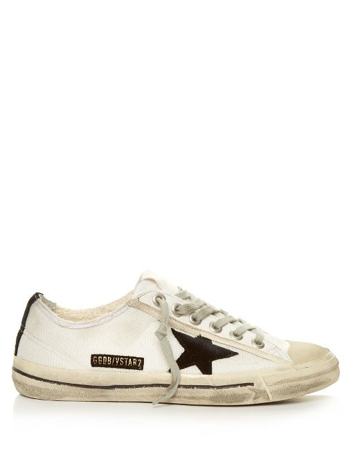 9cfa0664a1f5 Golden Goose Deluxe Brand V-star low-top mesh trainers