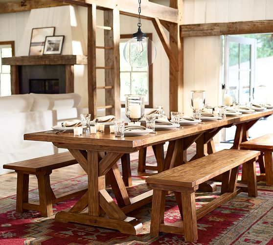Wells Extending Dining Table | Pottery Barn - maybe we can make ...