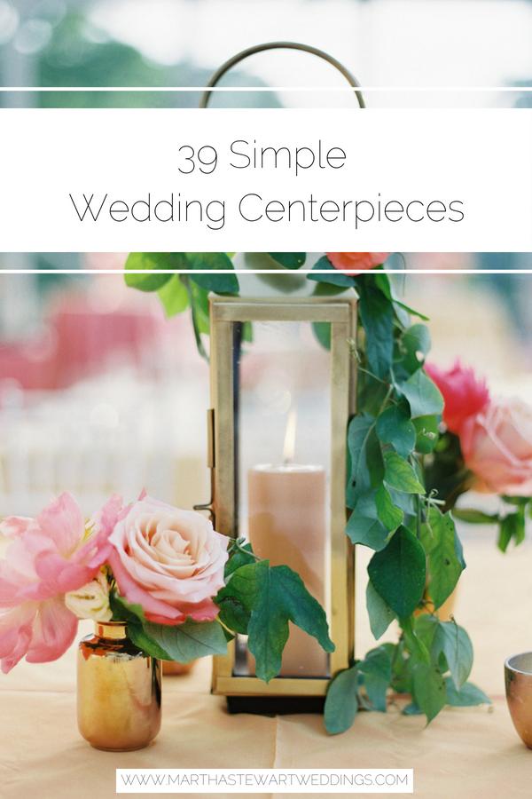 36 Simple Wedding Centerpieces Wedding Tables Decor Pinterest