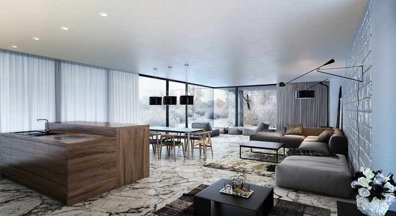 35 Modern Living Rooms with Cool and Clean Lines | Living Room ...