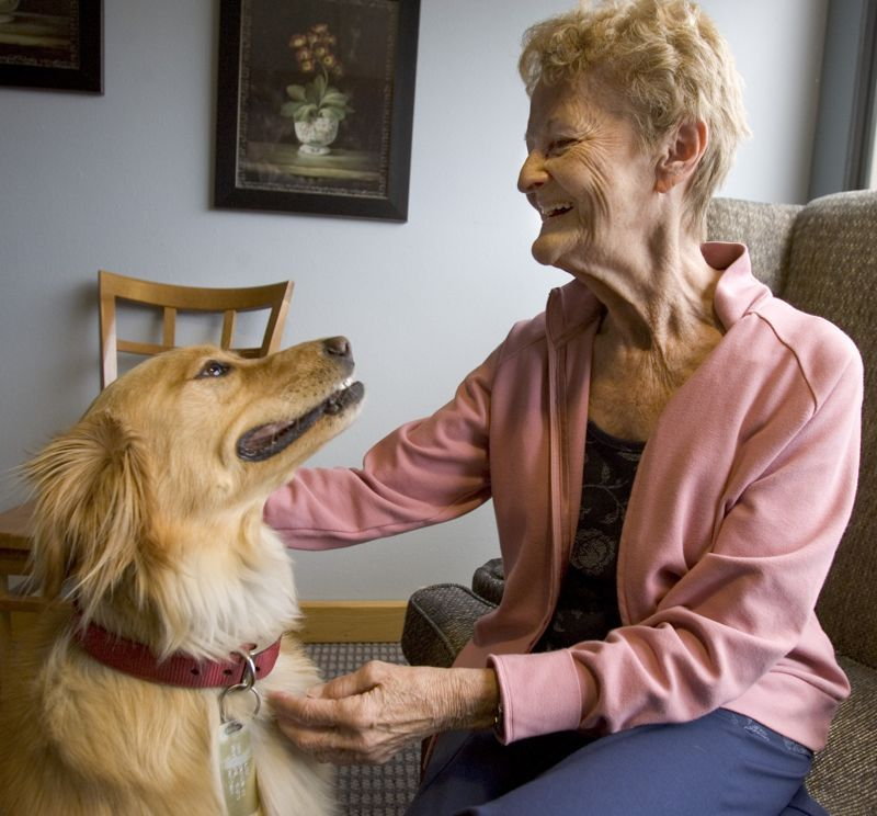 Certified pet visitors frequent the halls of midcolumbia