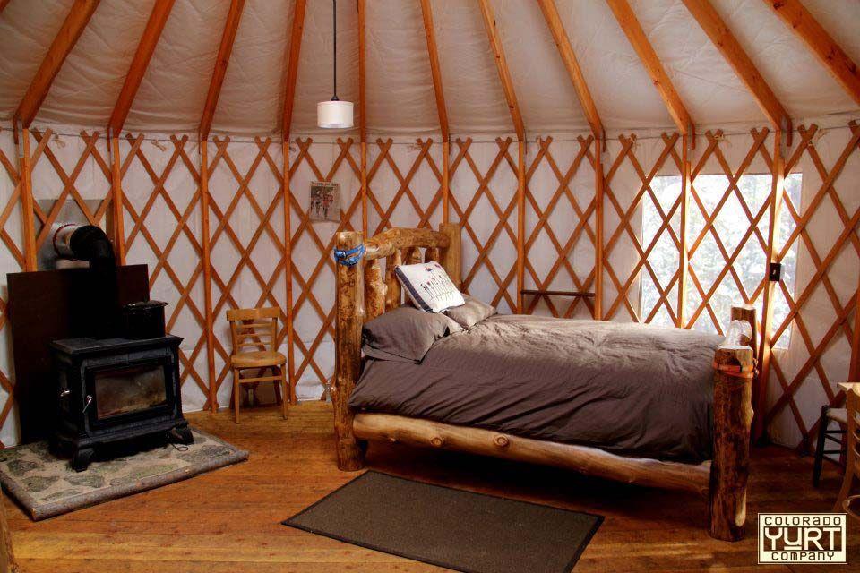 interior from tennessee pass sleep yurts. | yurt interiors