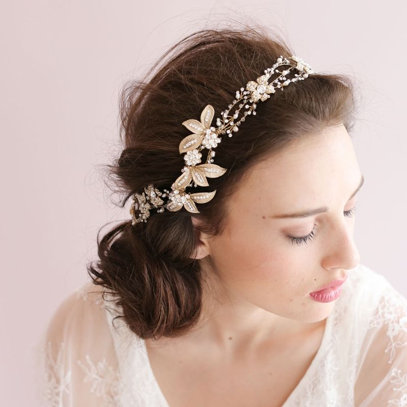 Cheap Hair Accessories Buy Quality Flower Head Wreath Directly From China Hair Band Supplier Floral Wedding Hair Accessories Hair Adornments Crystal Hair Vine