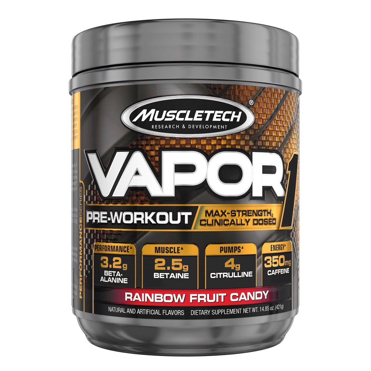 Vapor One Pre Workout 20 Servings Rainbow Fruit Candy Preworkout Muscletech Rainbow Fruit