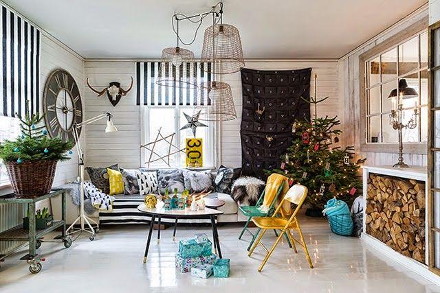 Casinha colorida: É Natal em uma casinha escandinava e alegre!