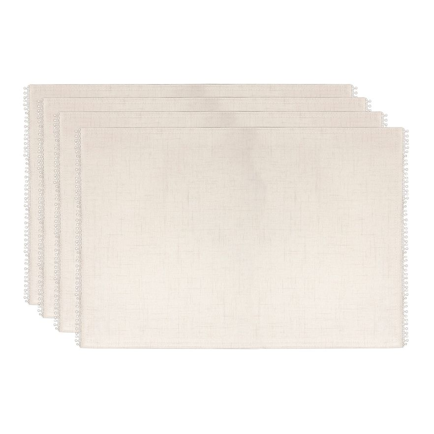 Lenox French Perle Placemat 4 Pack Natural Fits All Products