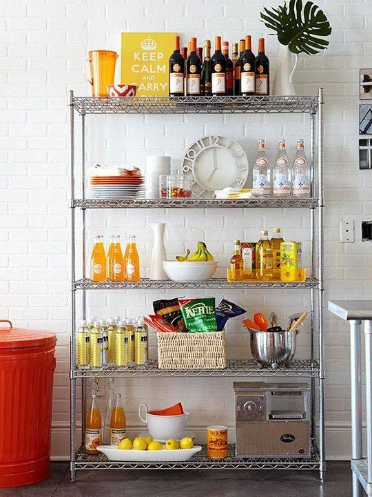 12 smart ways to use wire shelves in your kitchen editor s choice rh pinterest com wire shelving kitchen ideas wire shelving kitchen ideas